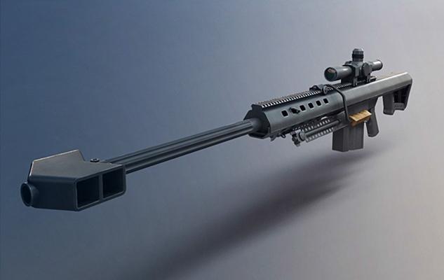 黑色槍3D模型【ID:315275505】