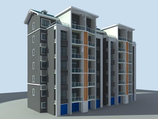 户外多层住宅163D模型【ID:315306896】