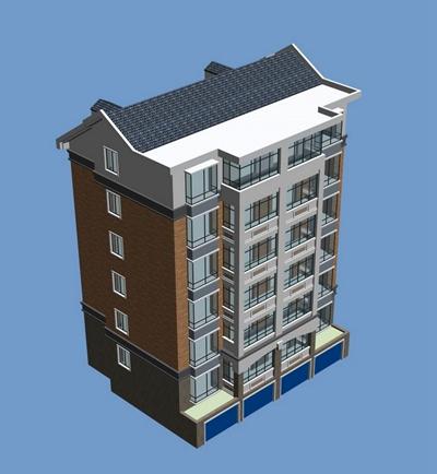 户外多层住宅1033D模型【ID:315308874】