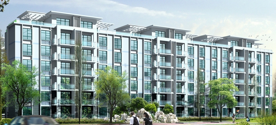 户外多层住宅2003D模型【ID:315310861】