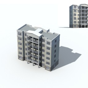 户外多层住宅4393D模型【ID:315315822】