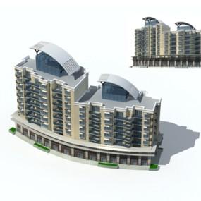 户外多层住宅4653D模型【ID:315315872】