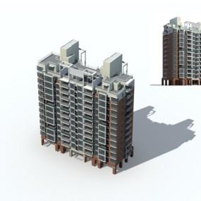 户外多层住宅4723D模型【ID:315315885】