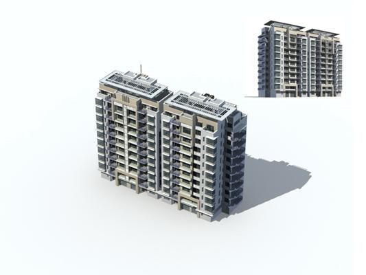 户外多层住宅4793D模型【ID:315315898】