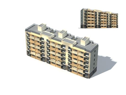 户外多层住宅5523D模型【ID:315317831】
