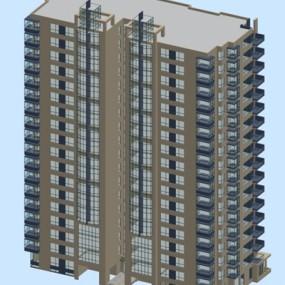 户外高层住宅793D模型【ID:315320915】