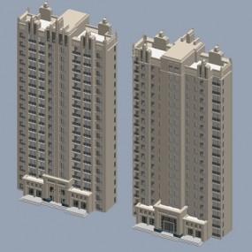 户外高层住宅1523D模型【ID:315321964】
