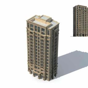 户外高层住宅7383D模型【ID:315333961】