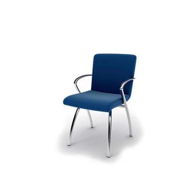现代蓝色皮质扶手椅3D模型【ID:315344472】