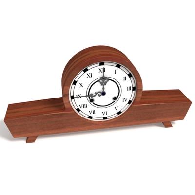 棕色木艺座钟3D模型【ID:315359903】