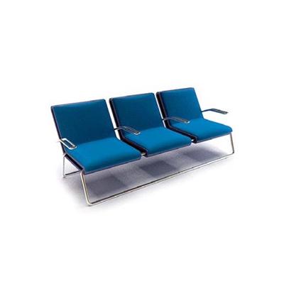 现代蓝色布艺扶手椅3D模型【ID:315391490】