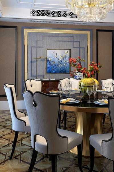 新中式餐厅3D模型【ID:327896479】