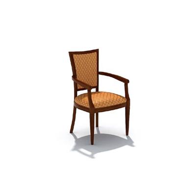 欧式简约布艺扶手椅3D模型【ID:315406428】