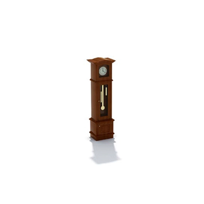 棕色木艺座钟3D模型【ID:315408991】