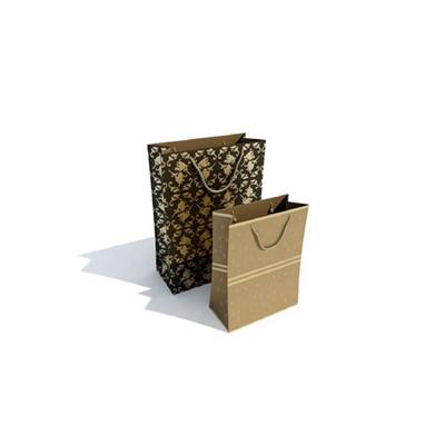 棕色纸袋3D模型【ID:315427362】