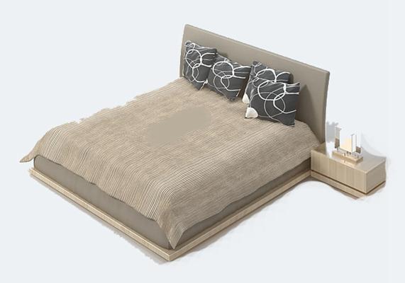 床具组合93D模型【ID:316937587】