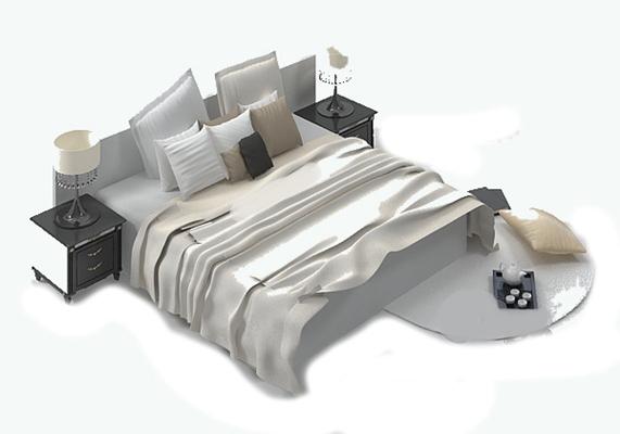 床具组合103D模型【ID:316938502】