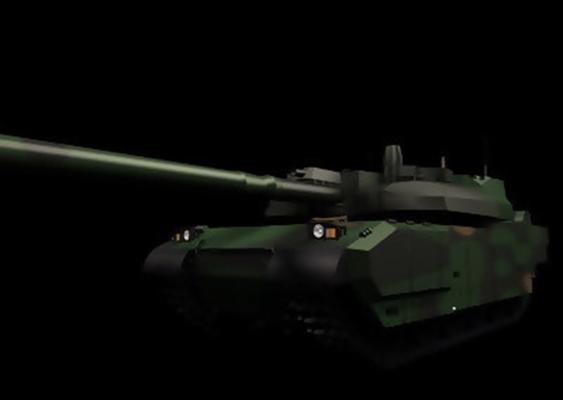 坦克23D模型【ID:317115124】
