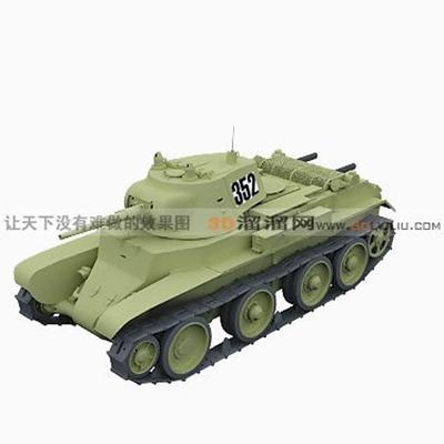 坦克23D模型【ID:317257152】