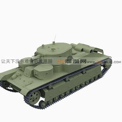 坦克123D模型【ID:317257196】