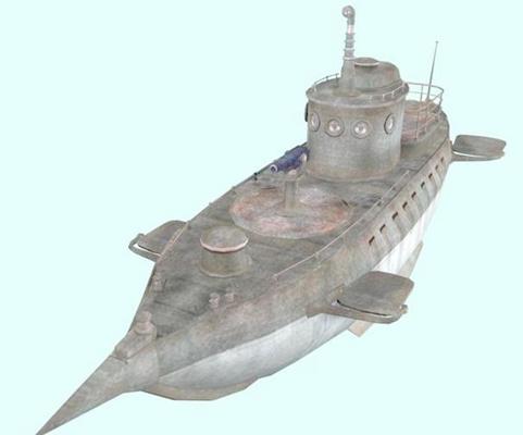 军舰33D模型【ID:317337305】