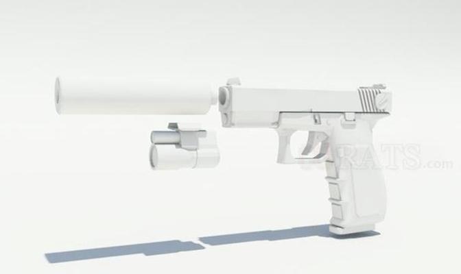 枪43D模型【ID:317369517】