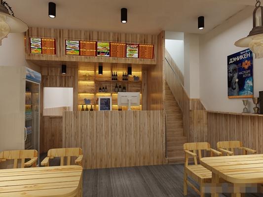 现代中餐厅3D模型【ID:317510481】