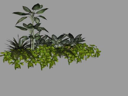 绿色景观树3D模型【ID:317534901】