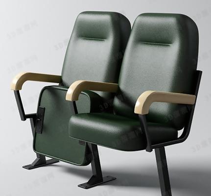 现代皮质扶手椅3D模型【ID:317576474】