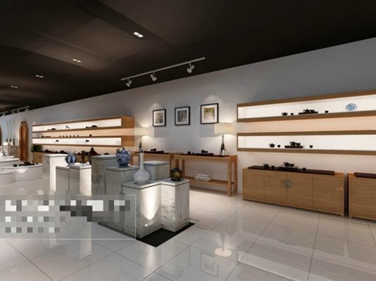 现代茶室3D模型【ID:317583793】