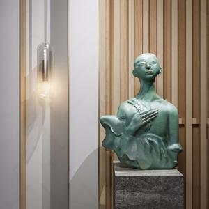 新中式冥想人物雕塑3D模型【ID:920793146】