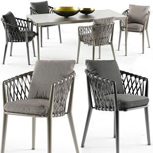 新古典户外餐桌椅3D模型【ID:841633806】