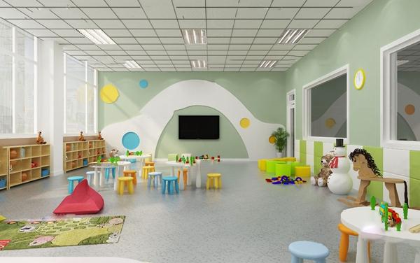 現代幼兒園教室3D模型【ID:947405613】