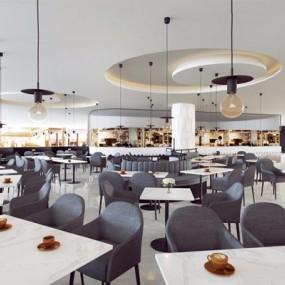 现代餐厅3D模型【ID:528008596】