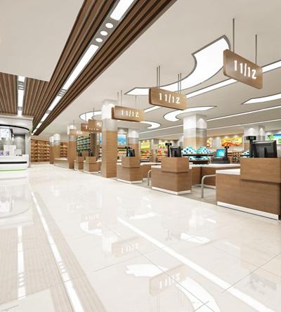 现代超市3D模型【ID:528022319】