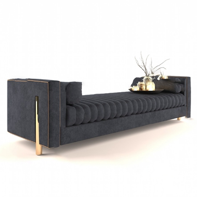现代床尾凳3D模型【ID:620611061】