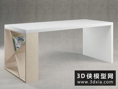现代书桌国外3D模型【ID:729661736】
