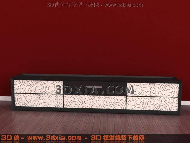 电视柜3D模型下载-3DMAX845