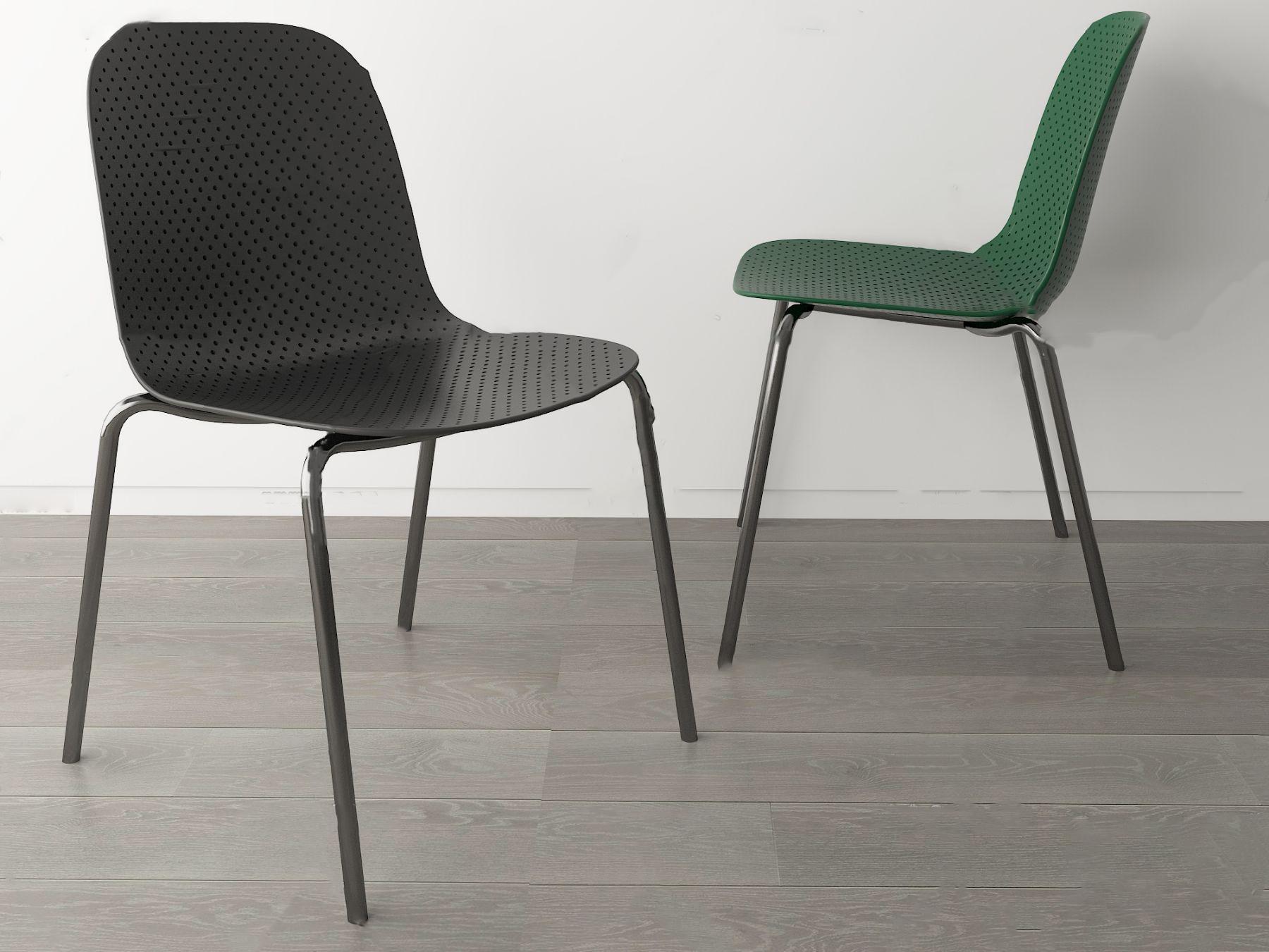 现代简约单椅3D模型【ID:743349097】