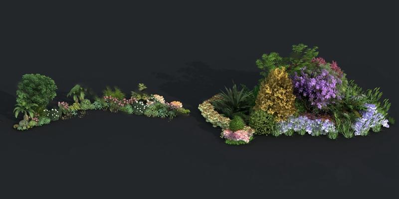 现代植物3D模型【ID:724888509】
