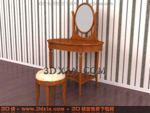 3D梳妆台模型下载-23-使用版本3dmax83D模型【ID:32570】