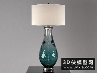 现代北欧台灯国外3D模型【ID:829502995】