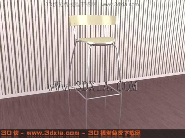 吧台椅293D模型【ID:32795】