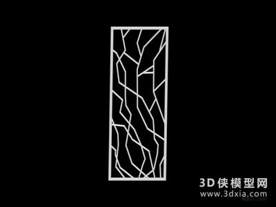 雕花隔斷國外3D模型【ID:929795599】