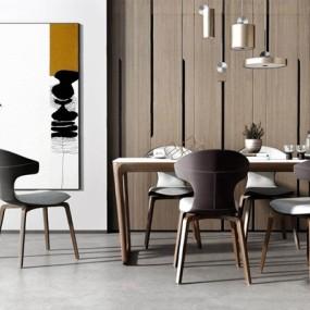 現代精品餐桌餐椅組合3D模型【ID:327924490】
