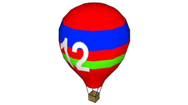 纹理热气球SU模型【ID:839608513】
