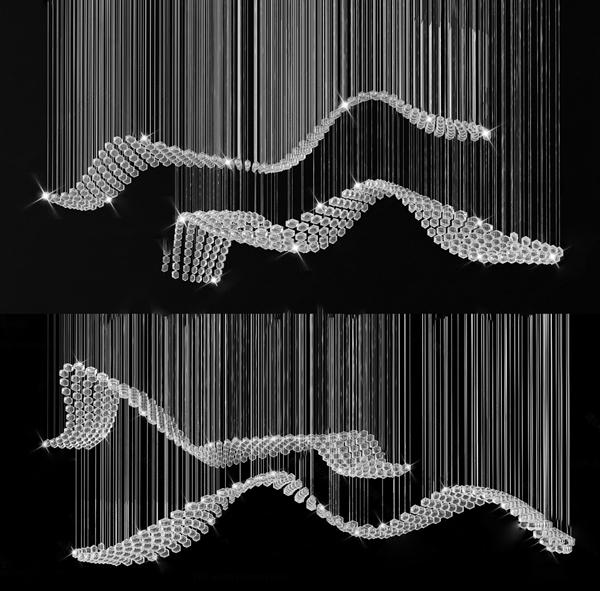 现代水晶吊灯3D模型【ID:846260551】
