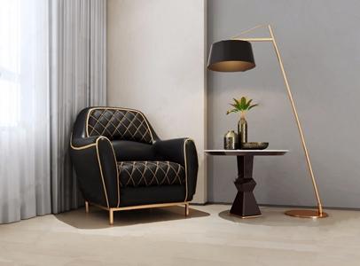 现代单人沙发3D模型【ID:920804688】