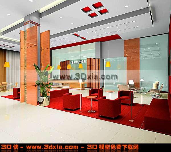 漂亮的销售大厅3D模型【ID:3389】