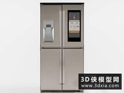 冰箱国外3D模型【ID:129350723】